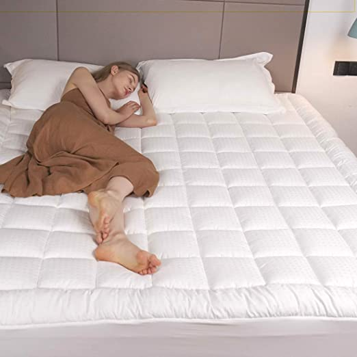 Amazon.com: Twin XL Mattress Topper Bed Pillow Top Cooling