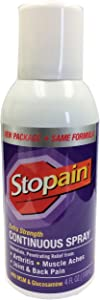 Stopain Extra Strength Continuous Pain Relief Spray, 4 Ounces, Relieves Muscle and Joint Pain