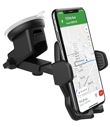 quality design 7be26 4f7e2 Car Mount for iPhone Xs/iPhone Xr Phone Holder (Fully Adjustable) Vehicle  Dock, Dash and Windshield Compatible (with Secure-Fit TPU Grips)