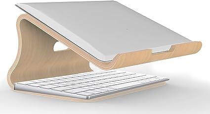 Holz Großer Schreibtisch für Laptop//Computer Silberfarben