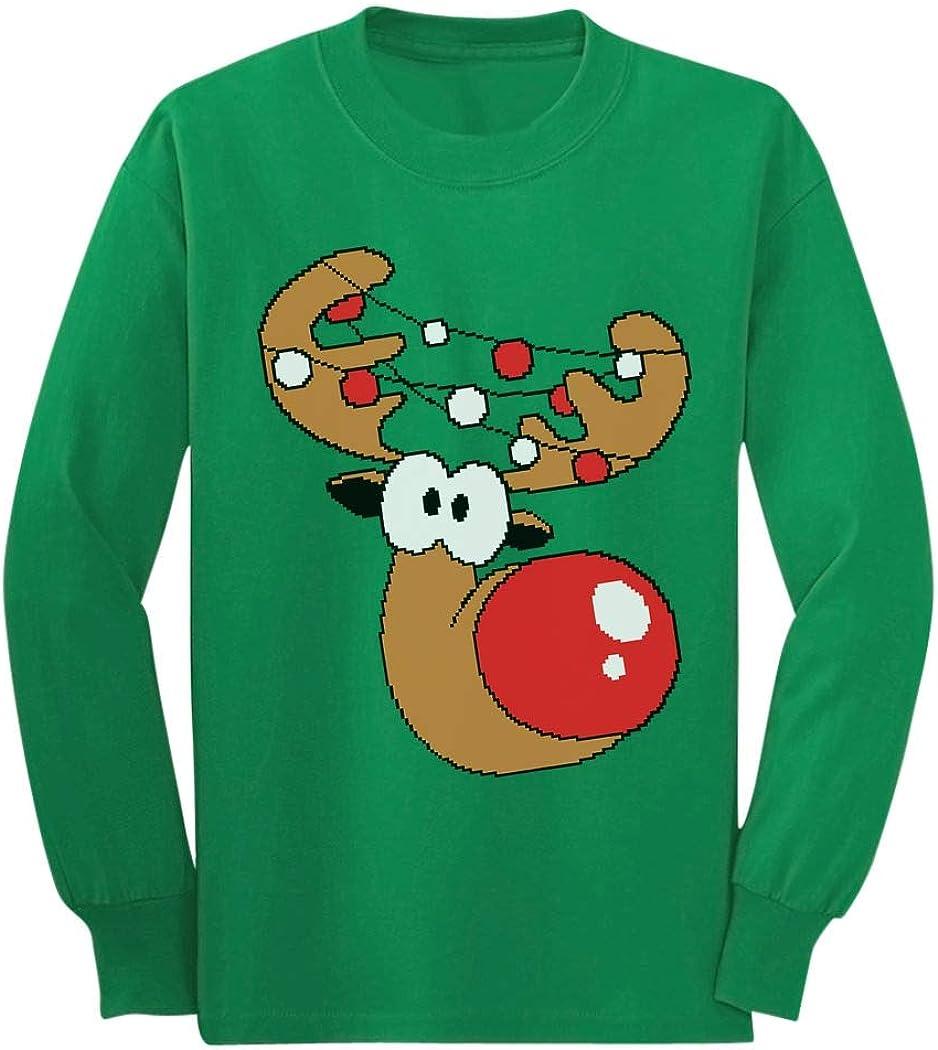 Reindeer Funny Christmas Youth Kids Long Sleeve T-Shirt