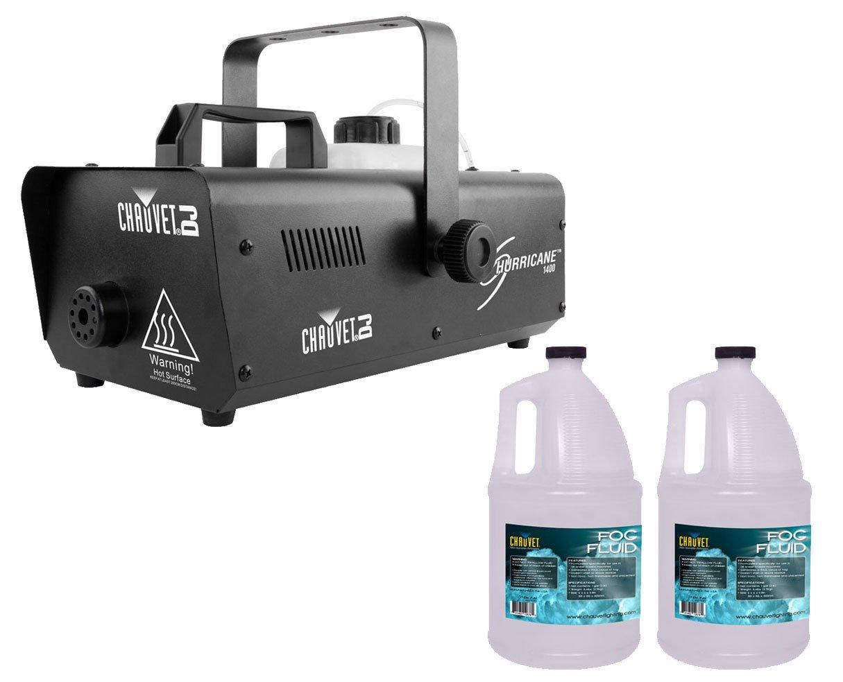 Chauvet H1400 Hurricane 1400 Fog Machine +2x Fog Fluid/Juice Gallon