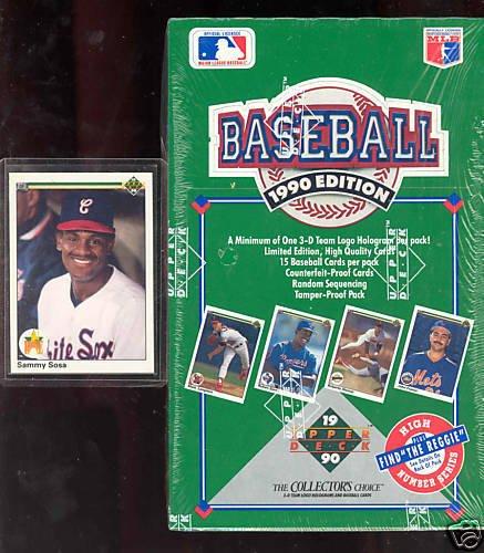 1990 Upper Deck baseball Wax Pack Box Reggie Jackson High Series Set Sammy ()