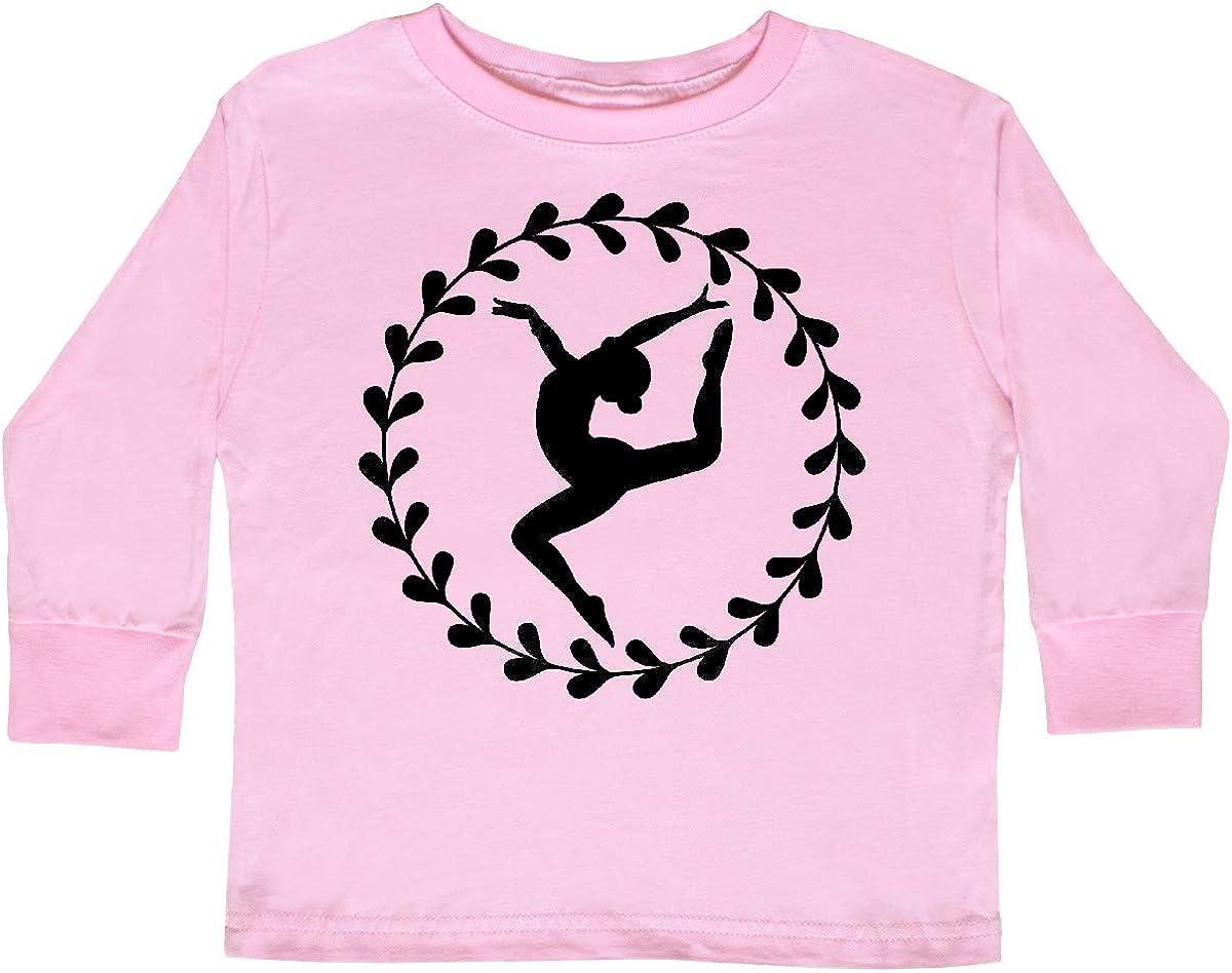 inktastic Dance Silhouette Ballerina Toddler Long Sleeve T-Shirt