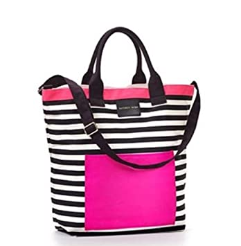 Amazon.com: Victoria's Secret Pink Black & White Striped Beach ...