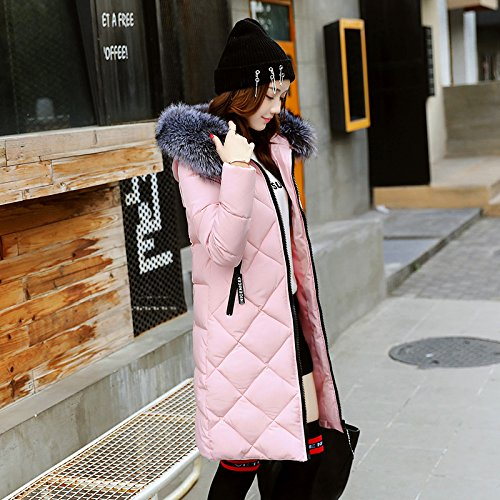 Xuanku Cotton And Women In The Long Section Of Thick Winter Feathers Cotton Suits A Large Collar Collar Cotton Jacket Pink