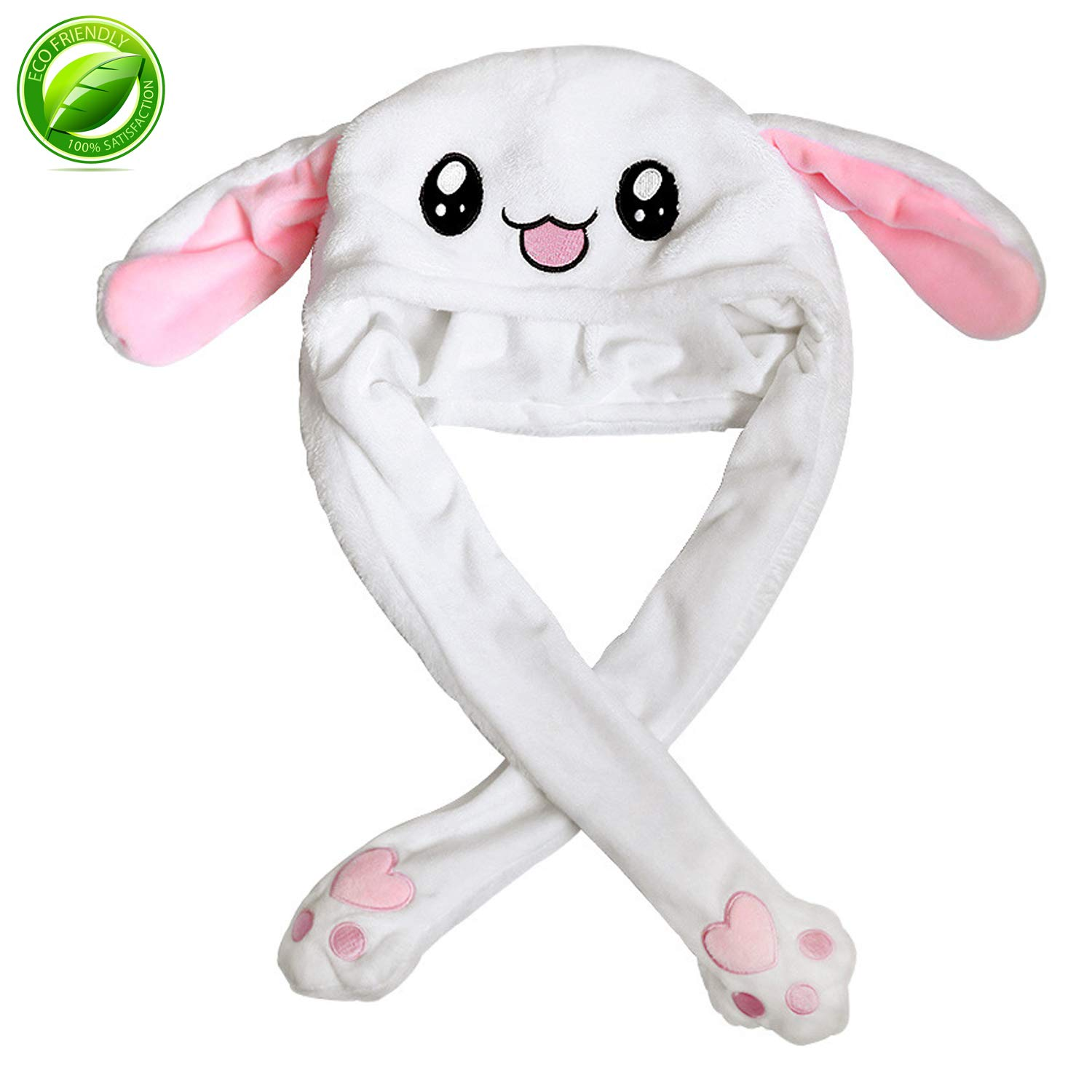 HYYER Bunny Hat Cap Animal with Airbag Jumping Rabbit Ear Movable Plush TIK Tok