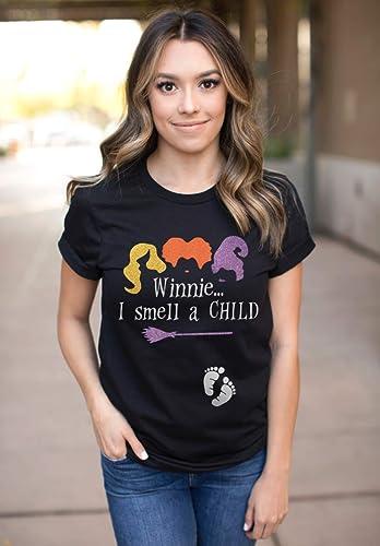 Amazon Com Hocus Pocus I Smell A Child Pregnancy Announcement Halloween Shirt Handmade