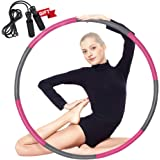 Auoxer Fitness Exercise Weighted Hoola Hoop, Lose Weight Fast by Fun Way to Workout, Fat Burning Healthy Model Sports Life, D