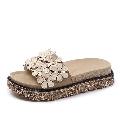 Bohemia Beach Shoes Women s Summer Fresh Shoes Outdoor Slippers  Sandals(Beige 35 4.5 B c160807361