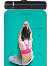 Yoga Mat Fitness Mat Eco Friendly Material SGS Certified Ingredients TPE Specifications 72'' x 24'' Thickness 1/4-Inch Non-Slip Extra Large Fitness Mat with and Carry Bag