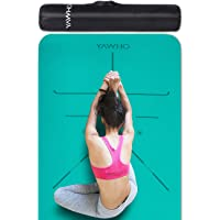 YAWHO Yoga Mat Fitness Mat Eco Friendly Material SGS Certified Ingredients TPE Specifications 72'' x 26'' Thickness 1/4…