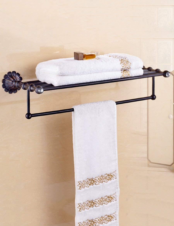 2 Antique Copper Bath Towel Racks European Shelf Shower Towel Racks Easy to Clean (color   1)