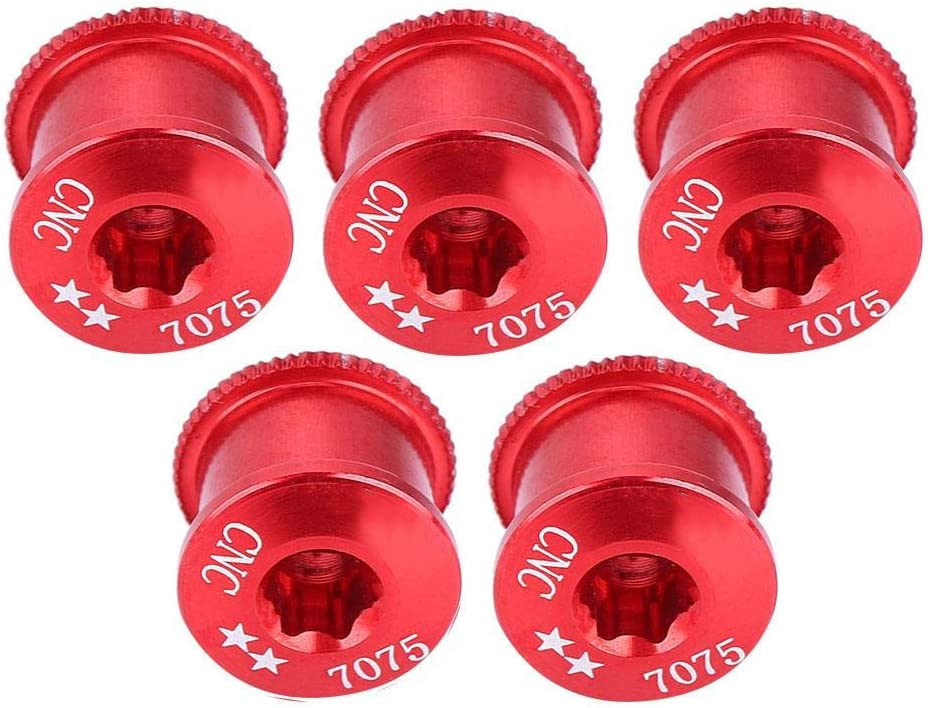 5Pcs Bicycle Bike Chainring Screw Chainwheel Bolt for Single Double Triple Speed