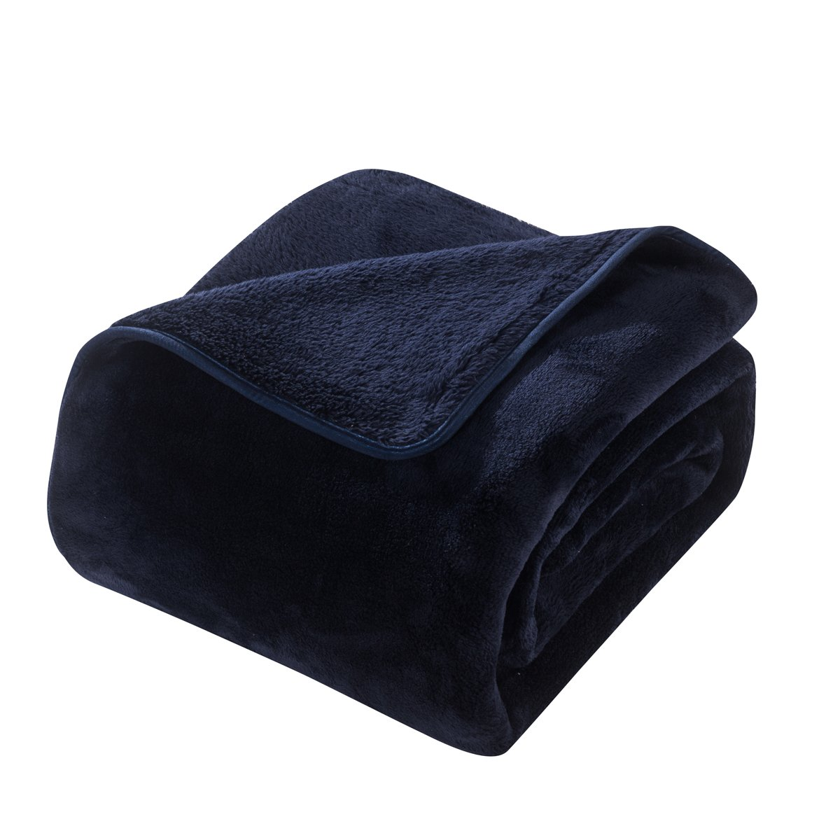 HYSEAS Heavy Thick Blanket, Extra Soft Plush Bed Blanket, Queen, Navy Blue
