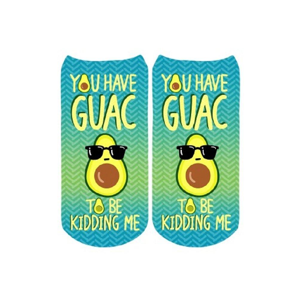 Sublime Designs SD06-PUN-GUC Guacamole Pun No-Show Socks