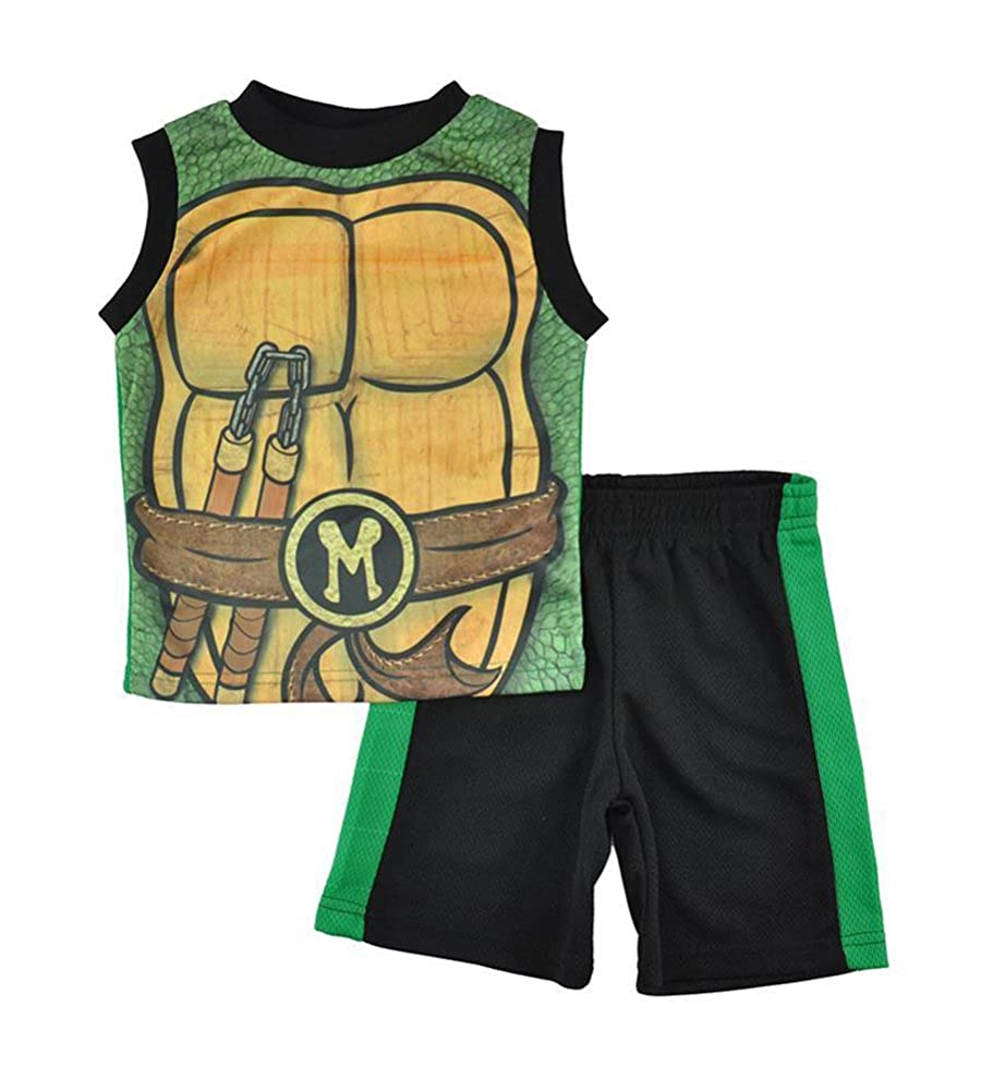 Teenage Mutant Ninja Turtles Little Boys Character Print Top 2pc Short Set