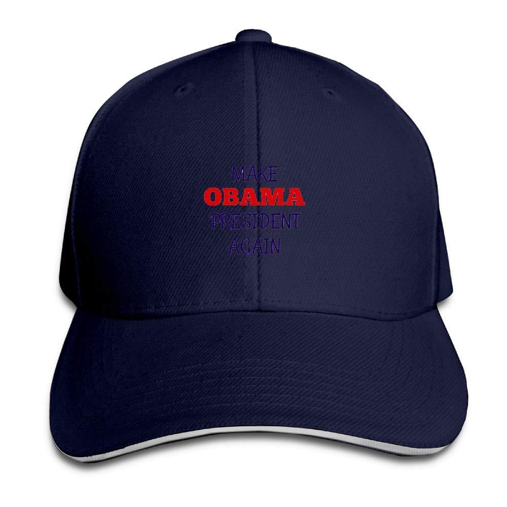 BUSEOTR Make Obama President Again Baseball Caps Adjustable Back Strap Flat Hat