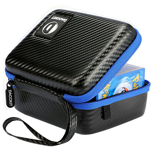(D DACCKIT Carrying Case Compatible with Pokemon Trading Cards - Fits Up to 400 Cards, Card Holder with Hand Strap and Carabiner)