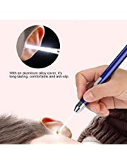 LED Flashlight Ear Pick, Baby Safety Ear Wax Remover Cleaner Ear Caring Tool Kit with USB Charging for Toddler Child Kids Pets(Blue)