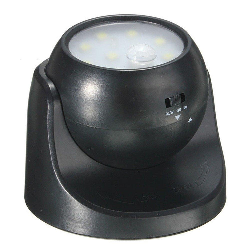 Aquiver - Lámpara de noche con sensor de movimiento de 360°, 9 LED, sensor de movimiento, inalámbrico, para casa, jardín, pared, patio, cobertizo: ...