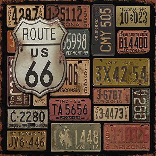 buyartforless CAN JP2159 GWrap Canvas Route 66 Gallery Wrap Art Decor by Jean Plout