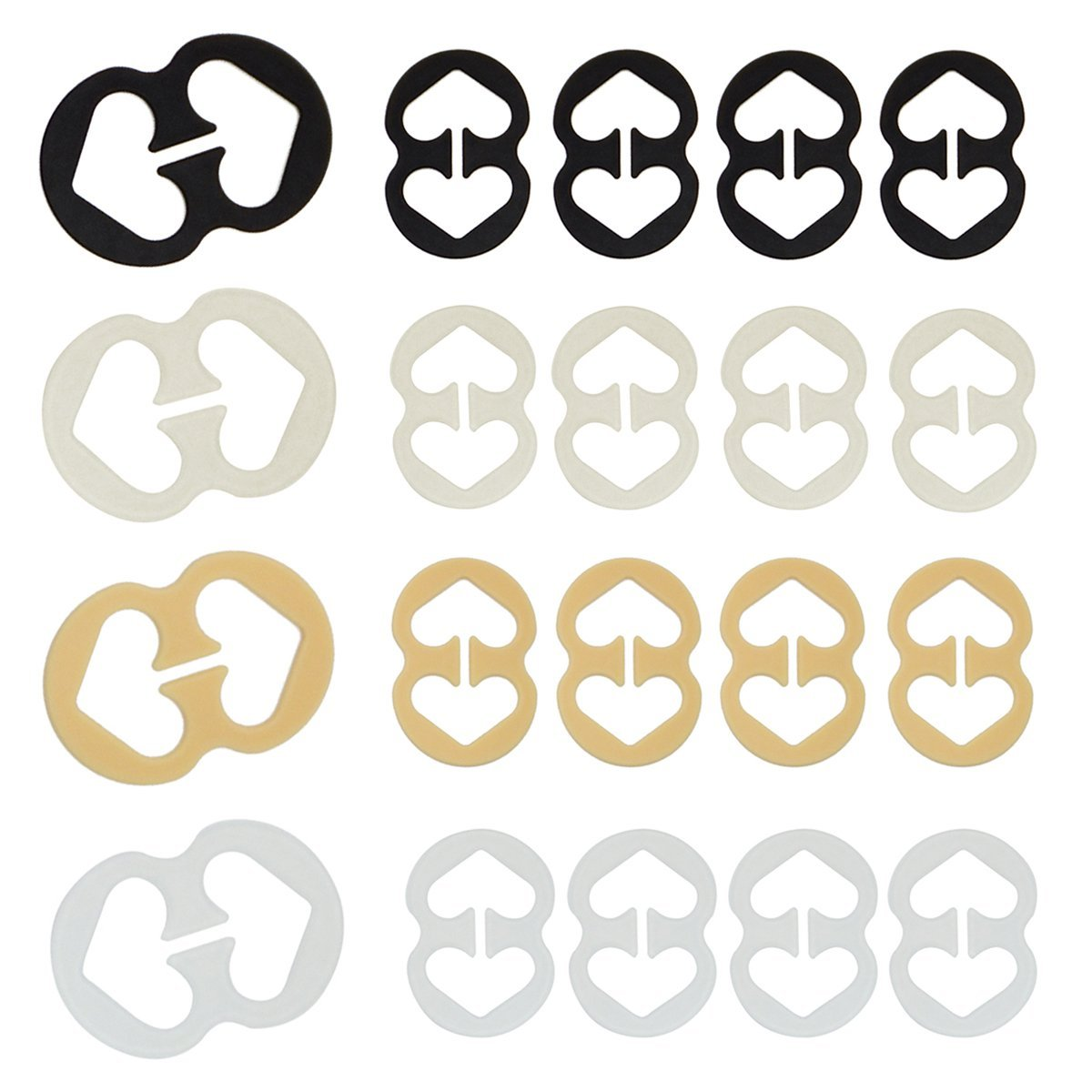 Cleavage Control Bra Strap Clips Conceal Straps to Racer back - 9pcs / 20pcs DoHope CA-BC-20