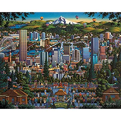 Dowdle Jigsaw Puzzle - Portland City of Roses - 1000 Piece: Toys & Games