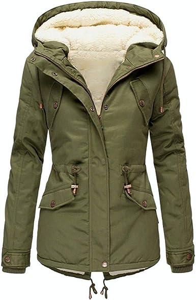 Domple Mens Fleece Linen Winter Hooded Zipper Outwear Sweatshirt Jacket