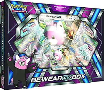 Pokemon TCG: Bewear Gx Box - 4 Booster Pack with A Foil Promo Card