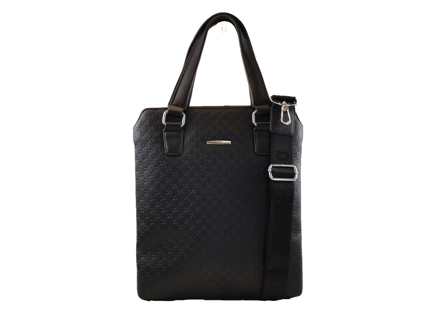Top Quality Vegan Leather Laptop Briefcase Messenger Bag with Top Handle and Shoulder Strap