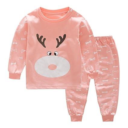 Recién Nacido Infantil Bebé Chico Niña Niñito Bebé Pijama Conjunto Baby Ropa Conjunto Dibujos Animados Impresión