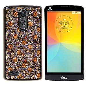 YiPhone /// Prima de resorte delgada de la cubierta del caso de Shell Armor - Patrón tradicional Tela Diseño Infinito Ocho Símbolo - LG L Prime D337 / L Bello D337