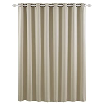 Navy Blue, W52 X L63 FLCA Blackout Curtains Room Darkening Thermal Insulated Grommet Drapes Bedroom