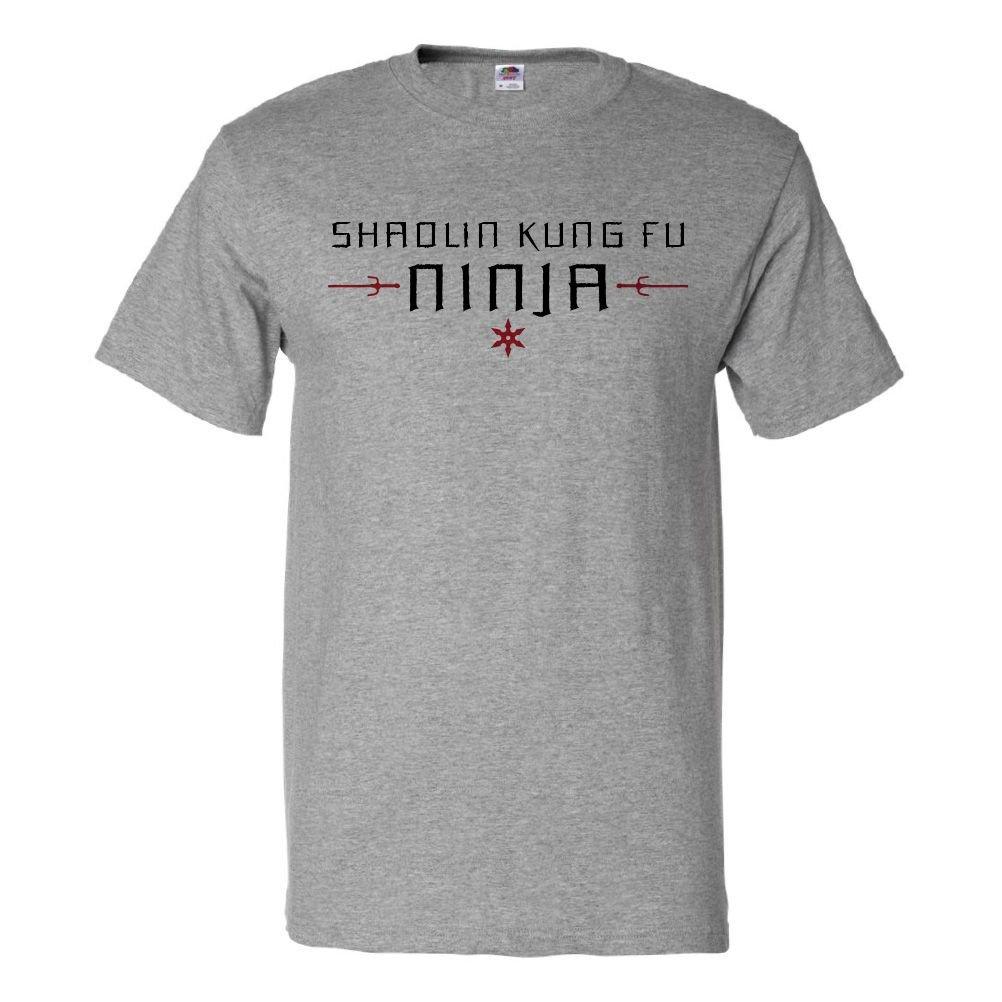 Amazon.com: ShirtScope Shaolin Kung Fu Ninja T Shirt Funny ...