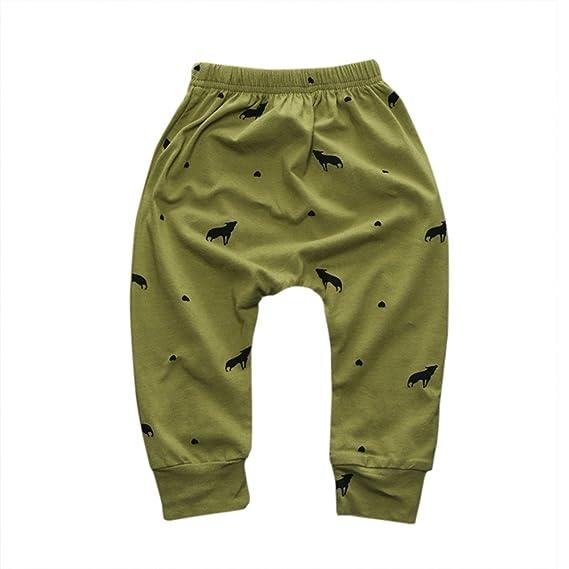 Enfants Pantalons,Sensail Tout-petits B/éb/é Filles Gar/çons Crayon Pantalon /Él/éments g/éom/étriques impression Pantalon Leggings V/êtements pour 0-24 mois