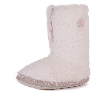 126105d3474a4 Bedroom Athletics Women s Marilyn Faux Fur Slipper Boots - Cream - Small  (5 6