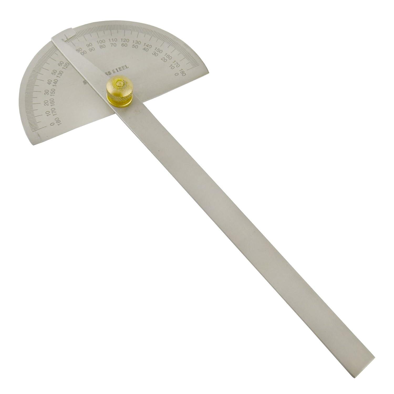 Rapporteur d'ingé nieurs en acier inoxydable 180 degré s Angle de mesure Marquage SIL194 AB Tools