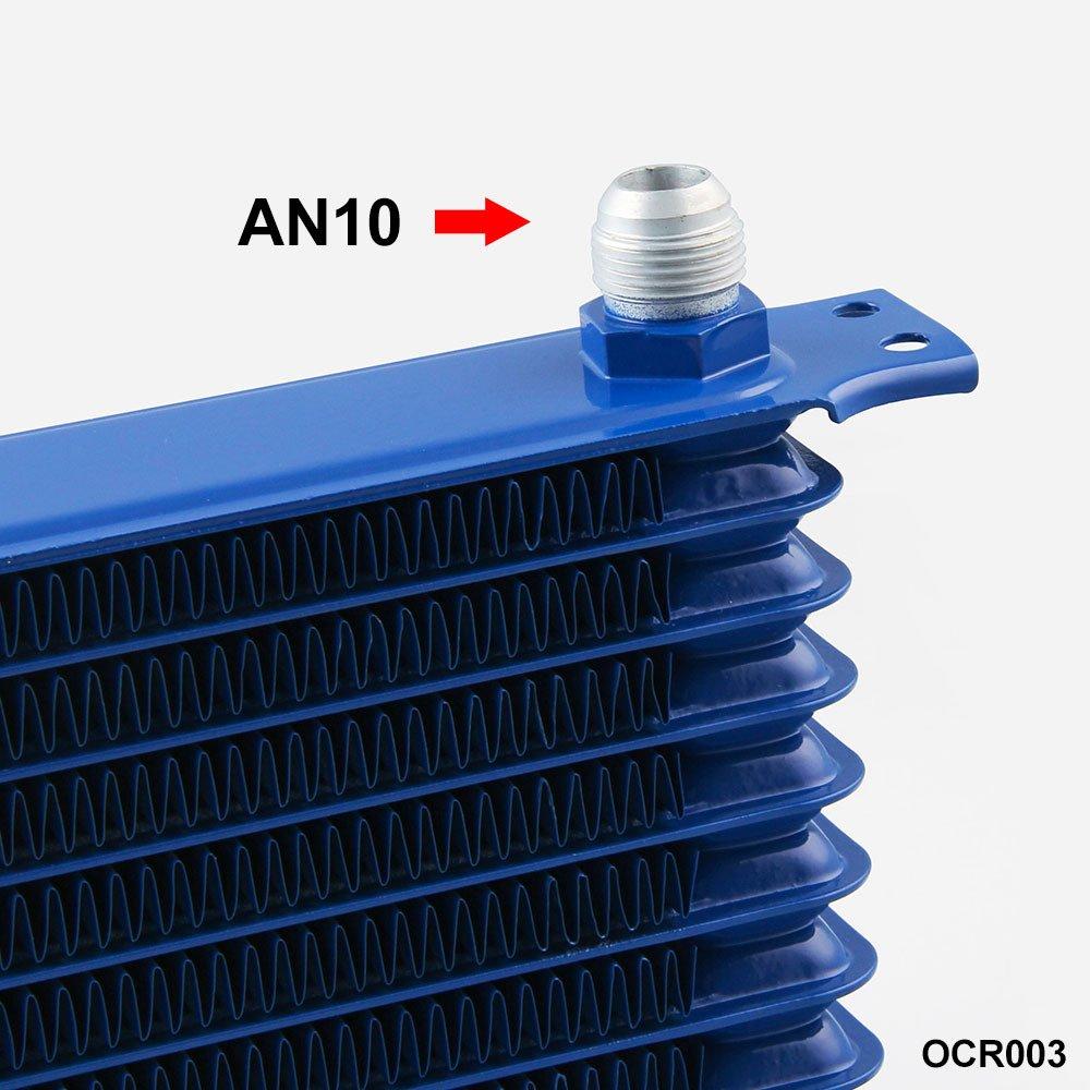 Radiador de Aceite de motor de transmisi/ón autom/ática para Motor Universal-10Filas AN10 Zantec Enfriador