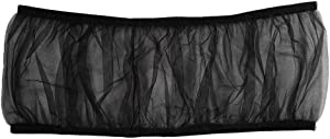 UEETEK Bird Cage Skirt Mesh Bird Seed Catcher Net Cage Cover (Black)