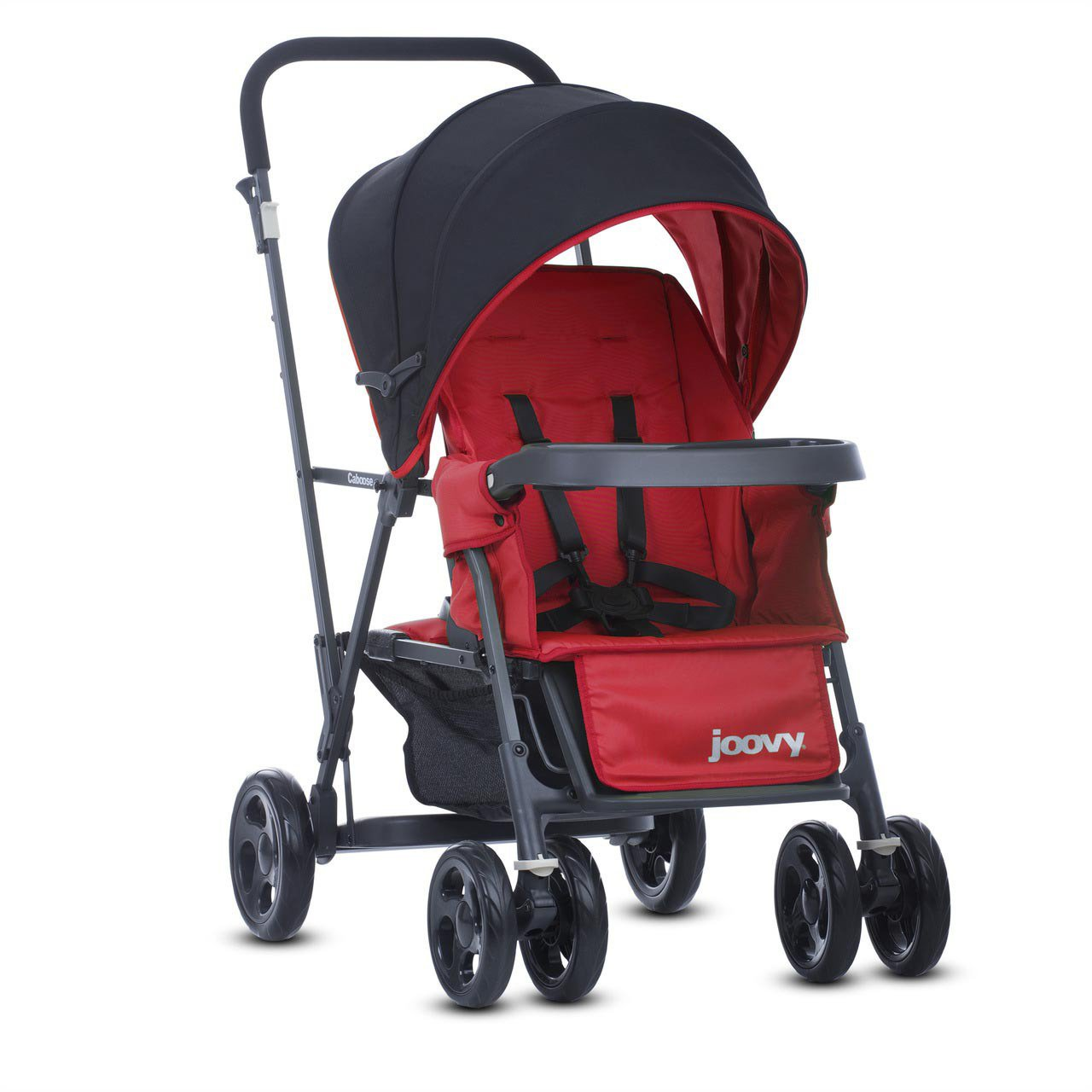 Joovy 8141 Caboose Graphite Stand on Tandem Stroller, Red