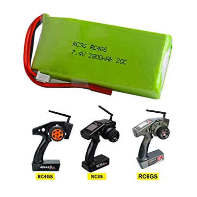 GoolRC 2S 7.4V 2800mAh 20C Lipo Battery for Radiolink RC3S RC4GS RC6GS Remote Controller: Home Audio & Theater