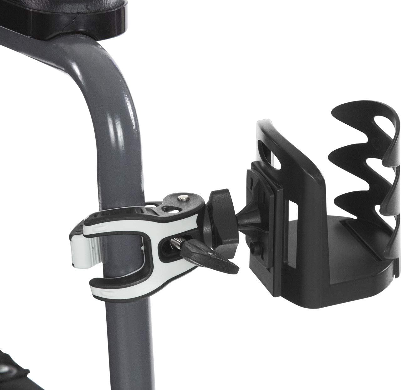 Vive Attachable Cup Holder - Cupholder for Stroller, Wheelchair, Desk, Water Bottle, Coffee Mug, Drink Glass, Can - Adjustable Mountable Clip for Bike, Rollator - Large, Universal, Portable with Clamp