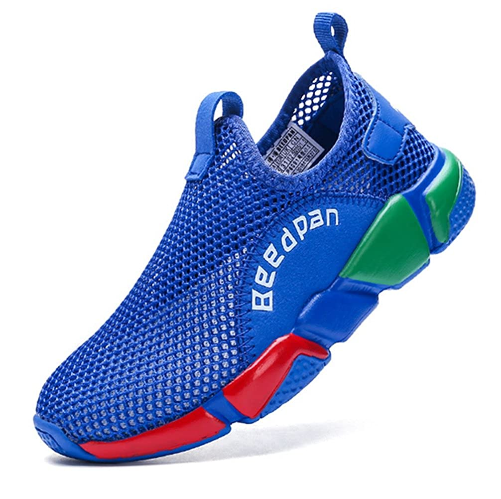 LGXH Summer Big Boys Running Sneakers Breathable Mesh Slip-On Kids Casual Sports Walking Tennis Shoes