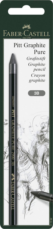 H/ärtegrad 6B Faber-Castell 117393 Stift Pitt Graphite Pure