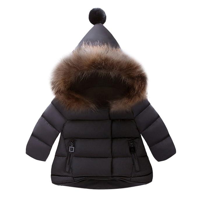 e1c13f98a Amazon.com: VEKDONE Baby Snowsuit Warm Fur Collar Hooded Down ...