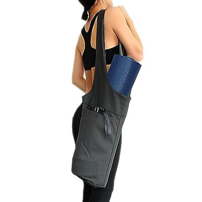 Gzq Tapis de yoga Sac multifonction de stockage de grandes poches latérales de transport épaule Sac à dos pour fitness Sport