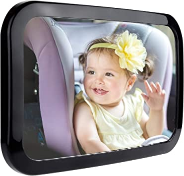 Ertisa Baby Car Mirror for Back Seat Super Clear Wide View Car Seat Mirror 360/° Rotatable 100/% Shatterproof Adjustable Straps Baby Rear View Mirror to See Rear Facing Infants