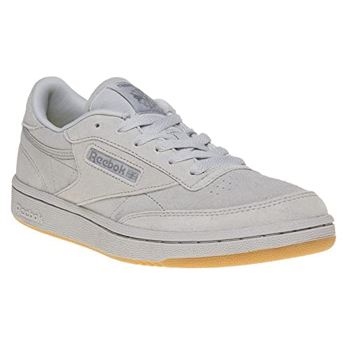Reebok Boy S Club C 85 Tg Steel Carbon And Gum Leather Sports Shoes 4 Uk India 36 Eu 4 5 Us Buy Online At Low Prices In India Amazon In