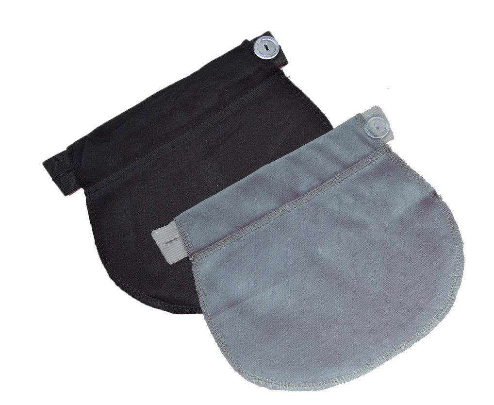 Mija - Set of 2: Maternity Pregnancy waistband ADJUSTABLE elastic waist extender 1029